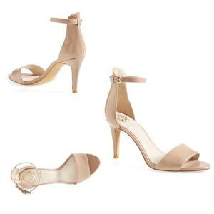 Vince Camuto Court Nude Strappy Leather Heels
